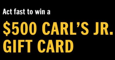 Carl's Jr. Gift Card Giveaway 2021