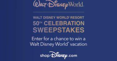 Walt Disney World 50th Celebration Sweepstakes 2021